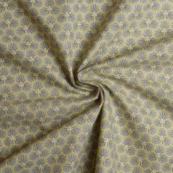 Tissu coton imprimé graphic taupe