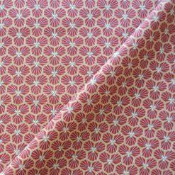 Tissu cretonne rouge 100% coton