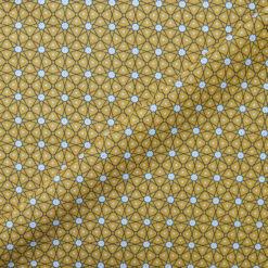 Tissu coton imprimé star jaune