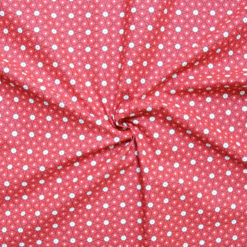 Tissu coton imprimé star rouge