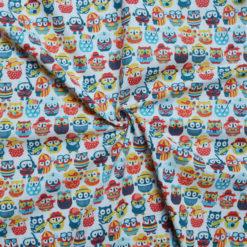Tissu coton imprimé chouettes summer