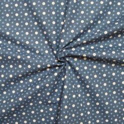 Tissu coton imprimé star bleu