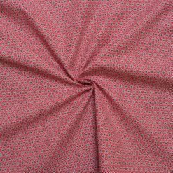 Tissu coton imprimé mozaic rouge