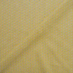 Tissu coton imprimé mozaic jaune
