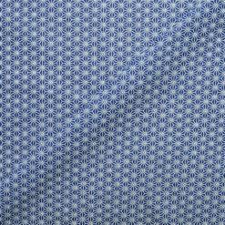 Tissu coton imprimé mozaic bleu