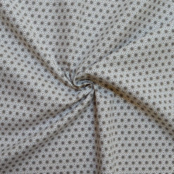 Tissu coton imprimé mozaic beige