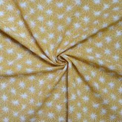 Tissu coton imprimé Daisy jaune