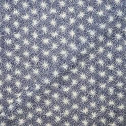 Tissu coton imprimé Daisy bleu
