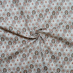 Tissu coton imprimé enfant déco feuille