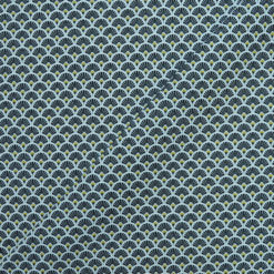 Tissu coton imprimé éventails black